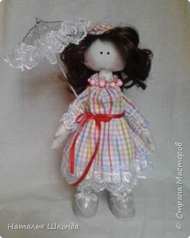 Куклы делала первый раз.Высота 30 см фото 1