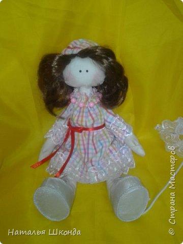 Куклы делала первый раз.Высота 30 см фото 5