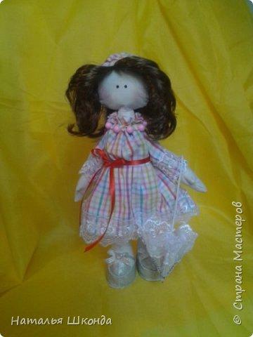 Куклы делала первый раз.Высота 30 см фото 7