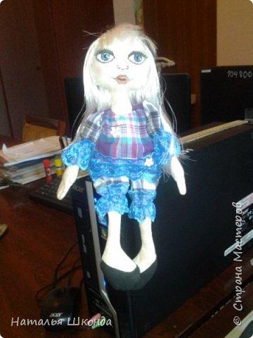 Куклы делала первый раз.Высота 30 см фото 8