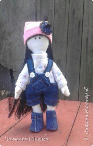 Куклы делала первый раз.Высота 30 см фото 12