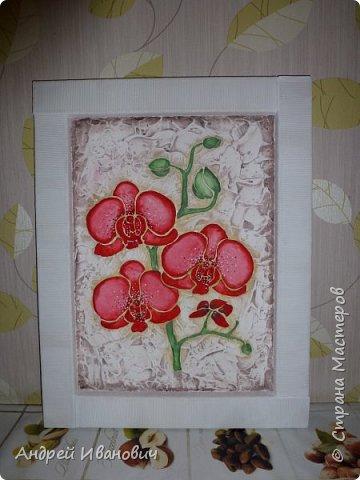 Рамка декорирована шпагатом Изображение и фон ---- шпатлёвка Раскрашено гуашью размеры 48х39 фото 1