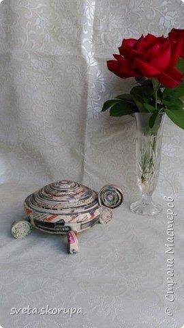 Шкатулка-черепашка для бижутерии фото 2