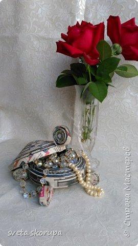 Шкатулка-черепашка для бижутерии фото 1