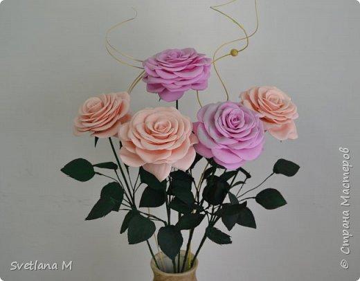 Напольная интерьерная композиция ,высота роз 1.2 м фото 4
