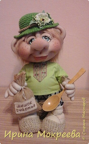 Эта кукла будет образцом для моих учеников,с которыми мы начнём сегодня делать домового ,который сидит. фото 1