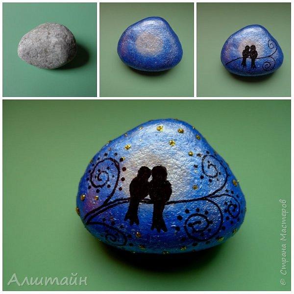 Рисунок выполнен на камне акриловыми красками и водостойким маркером (чёрного цвета), сверху покрыт глянцевым акриловым лаком. Длина камешка 4,5 см.   фото 1