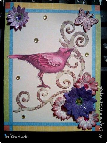 """мои первые работы в этом году открытку делала для игры """"Стрелы Амура"""", посылку отправляла давно, скорее всего она уже  пришла, так что думаю, что я вполне могу выложить содержимое сюда. фото 26"""