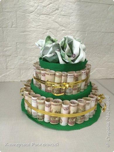 Денежный тортик или как оригинально подарить денежки фото 1