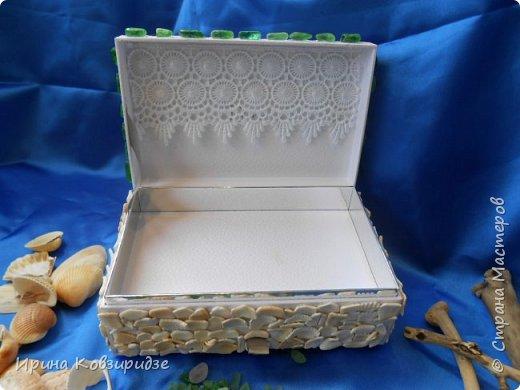 """Здравствуйте, дорогие мастера, соседи по СМ! Досталась мне интересная белая коробочка от духов """"Диор"""". Смотрела я на неё , смотрела и пришла мне одна идея. Вот посмотрите, что получилось. Получилась шкатулка. фото 4"""