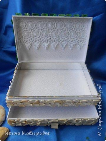 """Здравствуйте, дорогие мастера, соседи по СМ! Досталась мне интересная белая коробочка от духов """"Диор"""". Смотрела я на неё , смотрела и пришла мне одна идея. Вот посмотрите, что получилось. Получилась шкатулка. фото 5"""