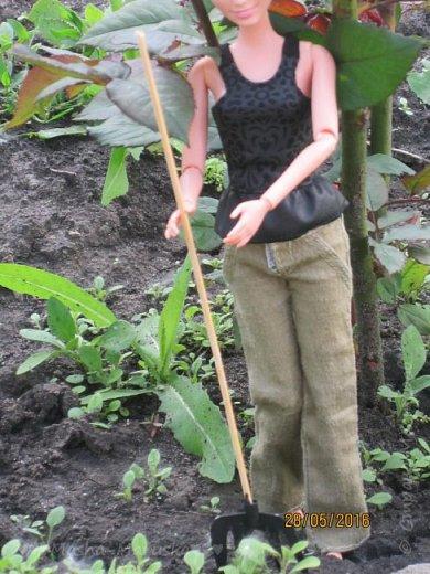 К лету пора готовиться. Мы начали почему-то с садового инвентаря. Наверное потому, что его легко делать) фото 2