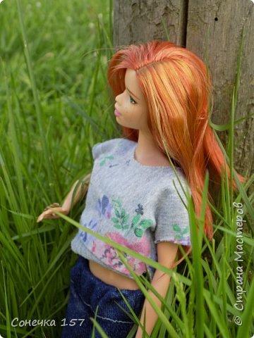 Всем привет!!! Знакомьтесь это моя новая куколка Тия! Сегодня она первый раз побывала на даче и там ей очень понравилось) Фотосессия будет без комментариев, поэтому смотрите дальше и наслаждайтесь просмотром! фото 7