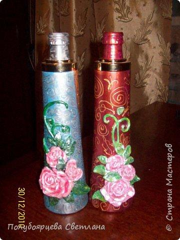 Декор бутылок в разных техниках фото 1
