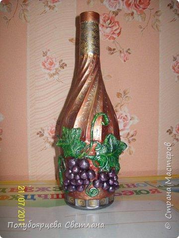 Декор бутылок в разных техниках фото 6