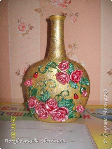 Декор бутылок в разных техниках фото 7