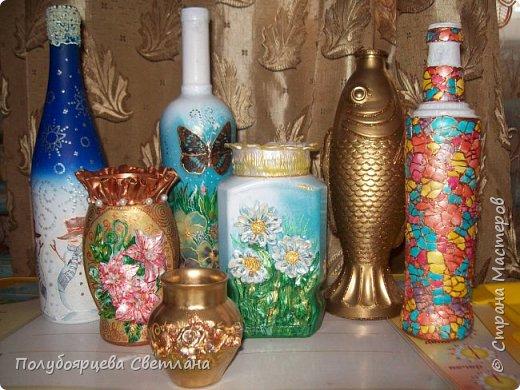 Декор бутылок в разных техниках фото 15