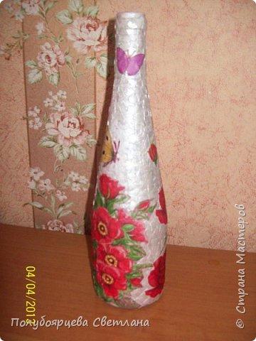 Декор бутылок в разных техниках фото 20