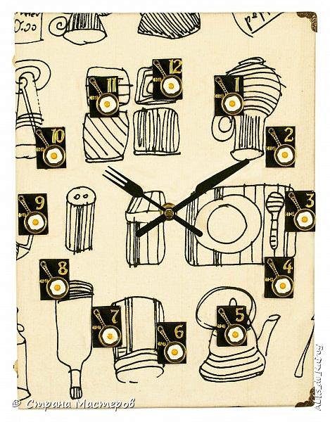 Доброго всем времени суток! Выкладываю новою работу - Книгу рецептов-1 работа готова была давно, не было времени отснять. Обложка - гардинная голландская ткань Цифры - бархатные мини-книжечки ручной работы и декоративные элементы (нано-сковородки с нано-яичницой из нано-яиц от нано-куриц))) Часы созданы под заказ для кухни в белых тонах. В подобном формате будут созданы ещё пара работ. Приятного всем дня! фото 1