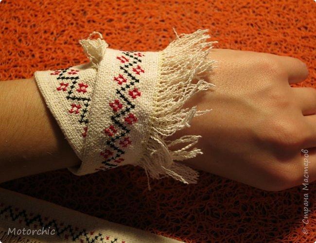 Сегодня я закончила работу над многофункциональными украшениями из льняной ткани. фото 3