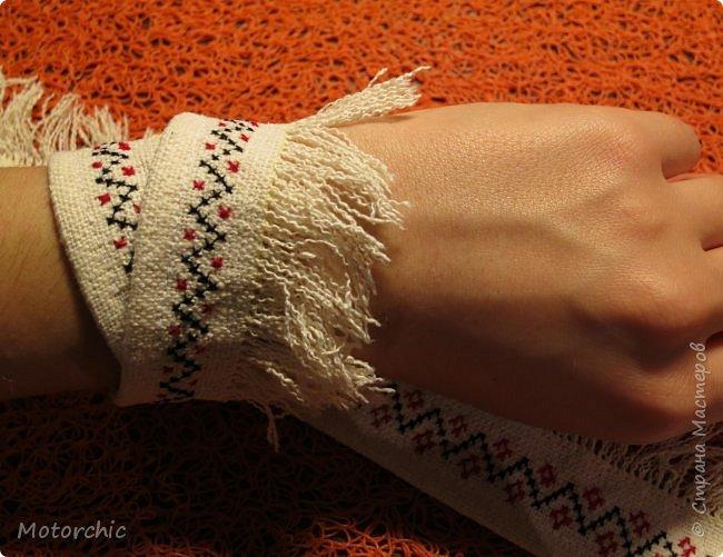 Сегодня я закончила работу над многофункциональными украшениями из льняной ткани. фото 4