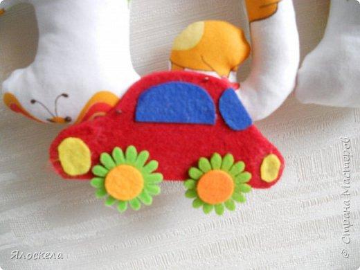 К дню рождения внука приготовила вот такой подарок для украшения детской ( материал бязь, косая бейка, фетр) фото 4
