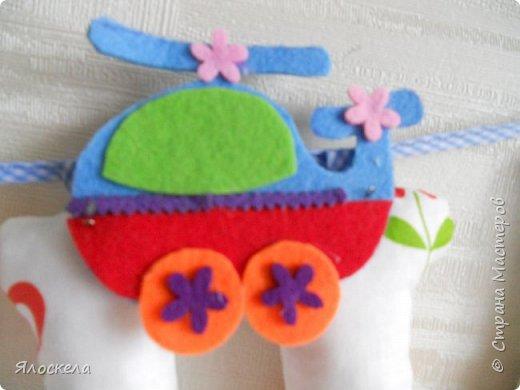 К дню рождения внука приготовила вот такой подарок для украшения детской ( материал бязь, косая бейка, фетр) фото 5