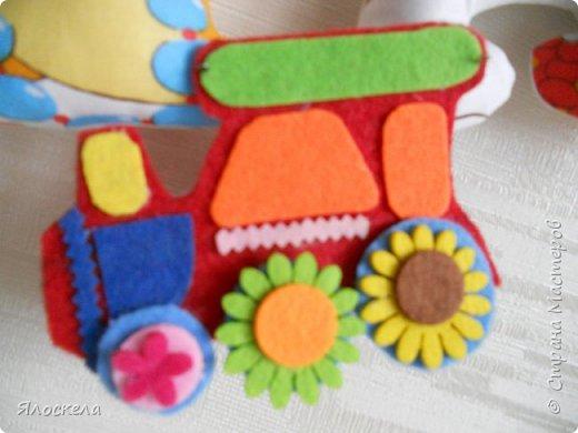 К дню рождения внука приготовила вот такой подарок для украшения детской ( материал бязь, косая бейка, фетр) фото 6