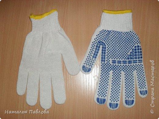 Кошечка из обыкновенной хозяйственной перчатки-простая и дешевая игрушка для ребенка фото 2