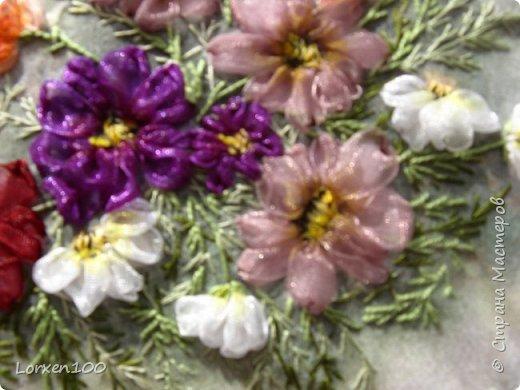 """Добрый день,мои дорогие соседи!!Хорошего всем воскресного дня и замечательного настроения!!!У нас жара и делать ничего не хочется,летнее затишье,но,все-таки,совсем ничего не делать не получается! Вот и цветочки такие родились.Получилась """"медалька"""" летняя-просто так,для души! фото 3"""