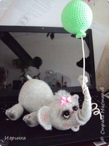 Здравствуйте друзья! Недавно увидала на оранжевом форуме слоненка  (автор veneficca) и сразу же влюбилась в него. Конечно же мне захотелось связать этого малыша. И вот он родился. Правда - чудо?  фото 1