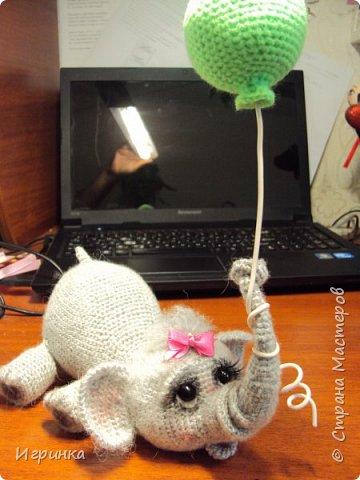 Здравствуйте друзья! Недавно увидала на оранжевом форуме слоненка  (автор veneficca) и сразу же влюбилась в него. Конечно же мне захотелось связать этого малыша. И вот он родился. Правда - чудо?  фото 4