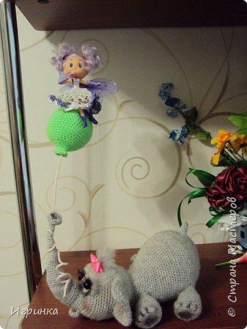Здравствуйте друзья! Недавно увидала на оранжевом форуме слоненка  (автор veneficca) и сразу же влюбилась в него. Конечно же мне захотелось связать этого малыша. И вот он родился. Правда - чудо?  фото 2