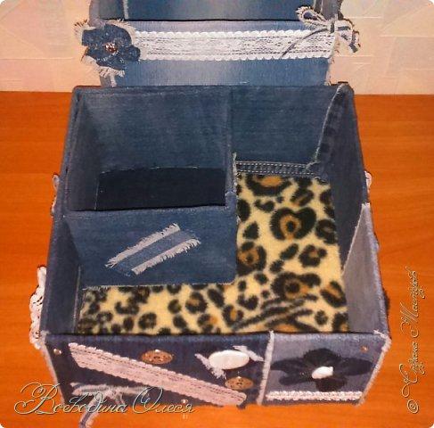 Добрый день, подсмотрела подобные коробочки у Олисандры и сделала себе коробочку под косметику.  фото 2