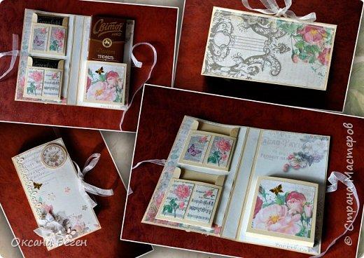 Вот такие две шоколадницы я изготовила в подарок на последний звонок учителям моих детей. Выполнены они по одному МК только из разных бумаг.Вот ссылка на МК  http://made-by-yolka.blogspot.com/2014/02/blog-post_8.html   Бумагу печатала сама, рисунок искала самостоятельно на определенную тему. фото 2