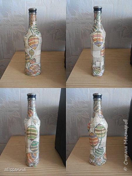 Доброе время суток...жители Страны....))))) Решила показать свои работы....вот такие бутылочки у меня получились...не судите строго...))))) фото 4