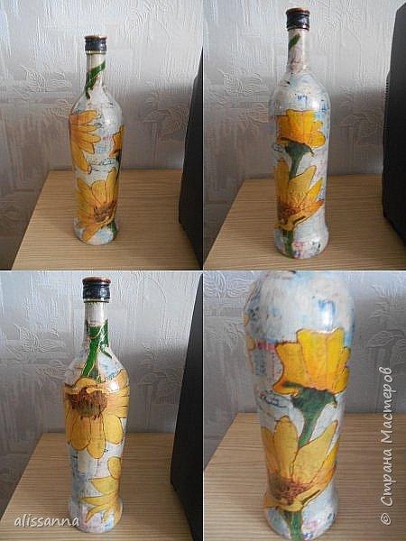 Доброе время суток...жители Страны....))))) Решила показать свои работы....вот такие бутылочки у меня получились...не судите строго...))))) фото 7