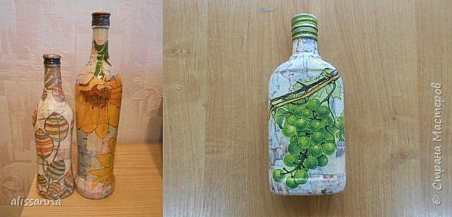 Доброе время суток...жители Страны....))))) Решила показать свои работы....вот такие бутылочки у меня получились...не судите строго...))))) фото 1