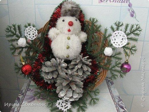 Этот весёлый снеговик был сделан накнуне Нового года. Ребятам моим он тоже понравился. И вот что у нас получилось... фото 1