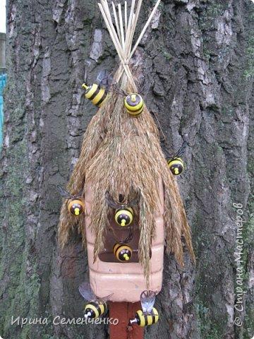 Пчелиные улики,какие поселились у меня дома. Понадобится 5 л бутылка, для пчёлок Киндерсюрпризы. Это мой первый улик. фото 2