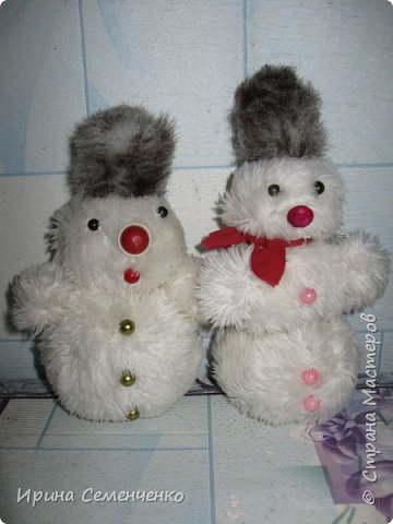 Этот весёлый снеговик был сделан накнуне Нового года. Ребятам моим он тоже понравился. И вот что у нас получилось... фото 7