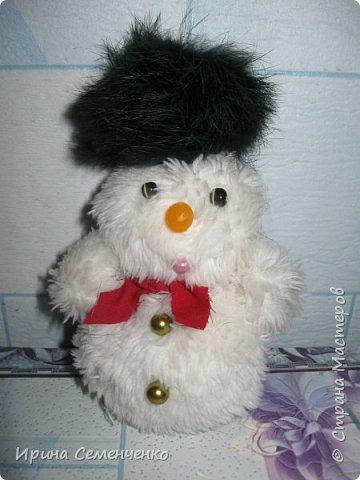 Этот весёлый снеговик был сделан накнуне Нового года. Ребятам моим он тоже понравился. И вот что у нас получилось... фото 3