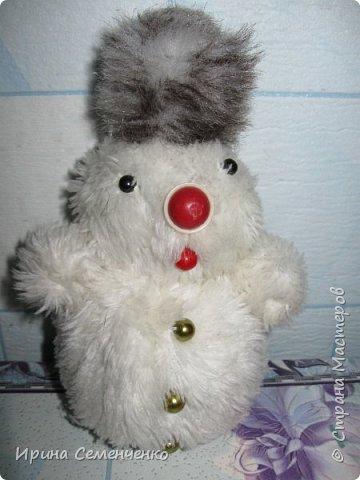Этот весёлый снеговик был сделан накнуне Нового года. Ребятам моим он тоже понравился. И вот что у нас получилось... фото 4