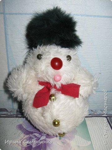 Этот весёлый снеговик был сделан накнуне Нового года. Ребятам моим он тоже понравился. И вот что у нас получилось... фото 6