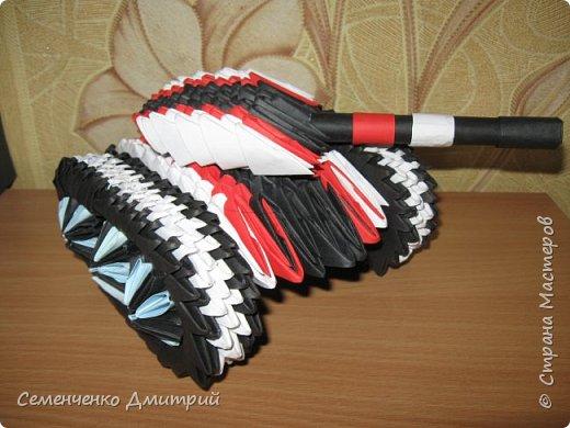 Мой первый танк по МК из блога Сергея Тарасова http://origamimodule.ru/tank-origami.html был изготовлен ко Дню Защитника Отечества фото 1