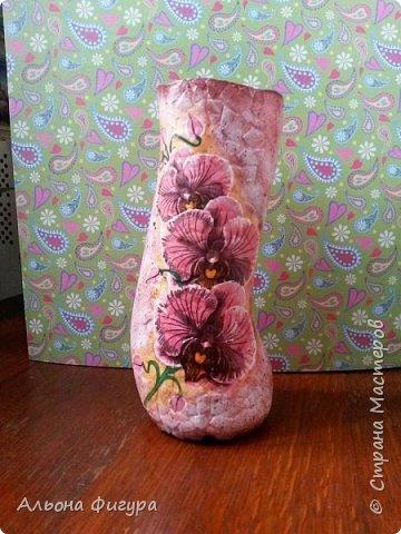 Вазы из бутылок, очень понравилась форма.  фото 2
