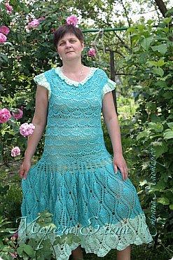 Платье на выпускной в 4 классе,связанное крючком. фото 1