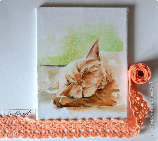 Мастер-класс по созданию картины акварелью. Курочка и Сон рыжего кота. фото 1
