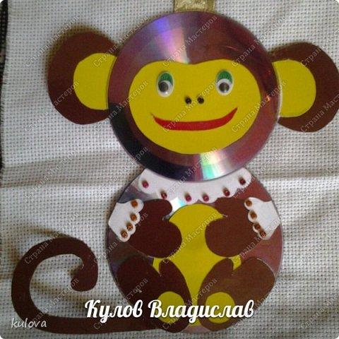 обезьянка из дисков фото 1