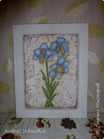 Рамка декорирована шпагатом Изображение и фон ---- шпатлёвка Раскрашено гуашью размеры 48х39 фото 2